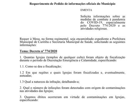 Medidas de combate à pandemia do COVID-19, e as atividades religiosas.