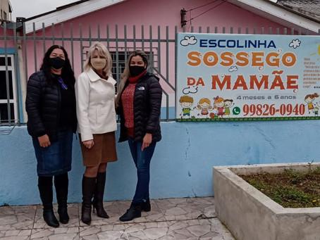 Vereadora visita escola infantil