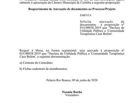 Anexação de documentos à proposição nº 014.00038.2019