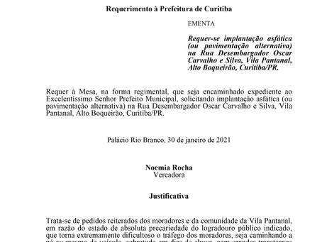 Implantação asfática (ou pavimentação alternativa) na Rua Desembargador Oscar Carvalho e Silva