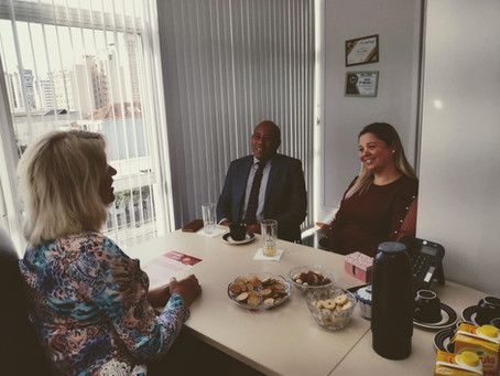 Visitas no gabinete - Pr. Robson e Pra. Renata
