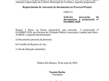 Anexação de documentos à proposição nº 014.00003.2020