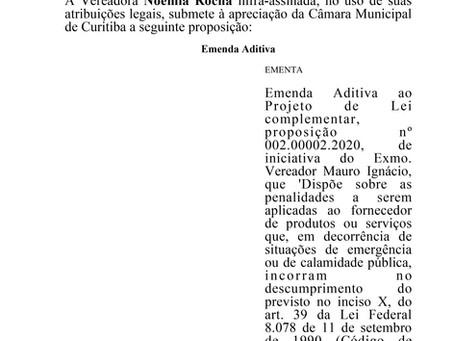 Emenda Aditiva ao Projeto de Lei complementar, proposição nº 002.00002.2020
