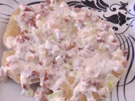 Receita de Pirogue com batatas e ricota super simples