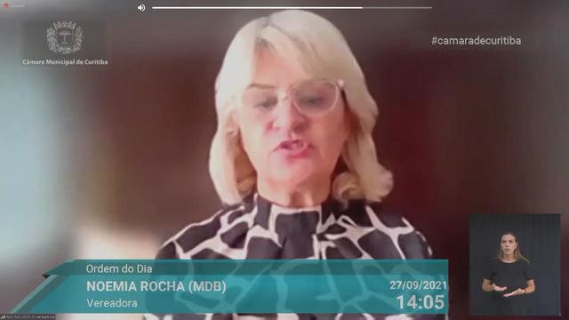 Fala da vereadora Noemia Rocha sobre o novo regime emergencial do transporte coletivo
