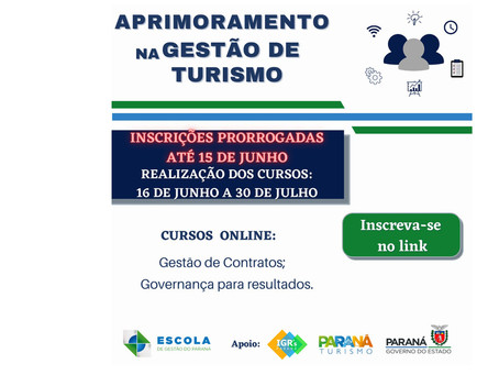 Cursos online de gestão da Paraná Turismo têm inscrições abertas até esta terça