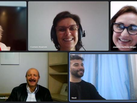 Reunião virtual com representantes dos projetos ANAMOB e MMQSI
