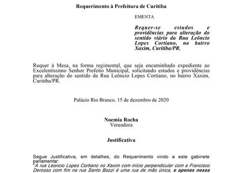 Alteração do sentido viário da Rua Leôncio Lopes Cortiano