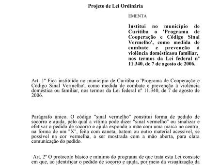 Programa de Cooperação e Código Sinal Vermelho