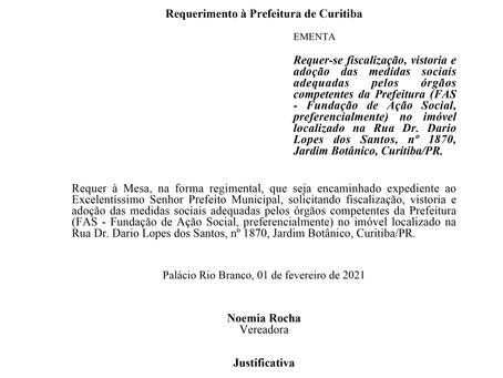 Fiscalização, vistoria e adoção das medidas sociais adequadas pelos órgãos competentes da Prefeitura