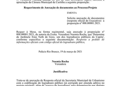 Anexação de documentos (resposta oficial do Executivo)