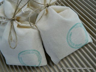 Muslin bags and the office stamp.