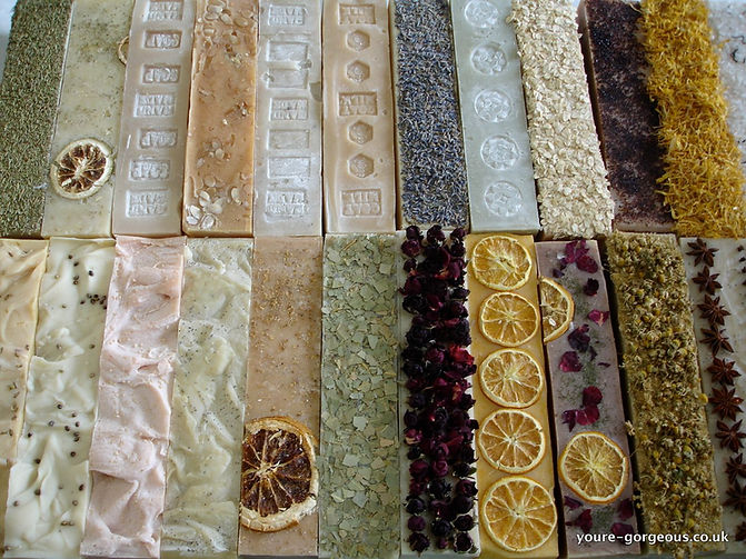 All natural handmade soap logs 1Kg. Soap loaves, bars and blocks available for wholesale.