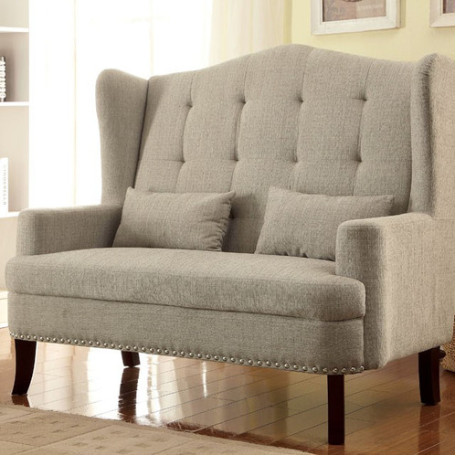 a big barrelback wing chair elegant accent chair features beautifully curved wings a tufted back plushed seat and petite track arms