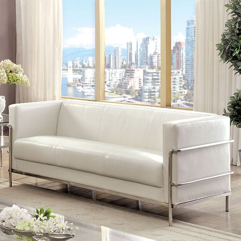 Clean Lines And Simple Designs Make This Modern Sofa Set A True  Showstopper! Box Like Framework Showcases Sleek Track Arms And Smooth  Upholstery While The ...