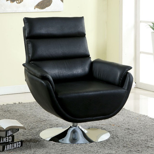 Marvelous Extreme Modern Designs Never Looked So Inviting! This Accent Chair Features  A Cradling Structure Padded With Leatherette Cushions, Along With A Swivel  ...