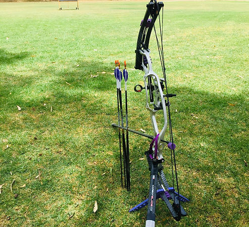 Compound bow at Northern Archers WA
