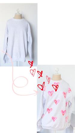 DIY Painted Heart Sweatshirt
