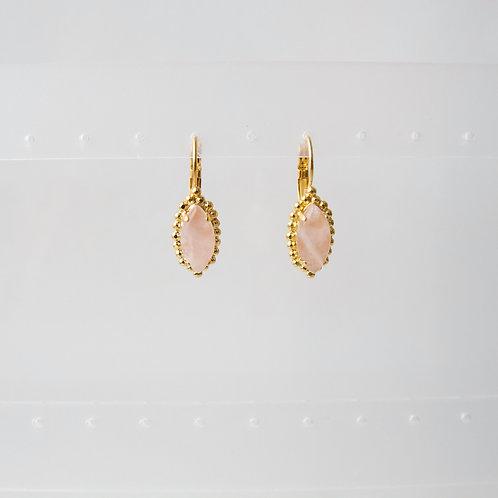 Raye Earrings in Rose Quartz