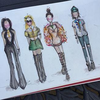 Fashion Illustrations: Watercolor Fashion sketches