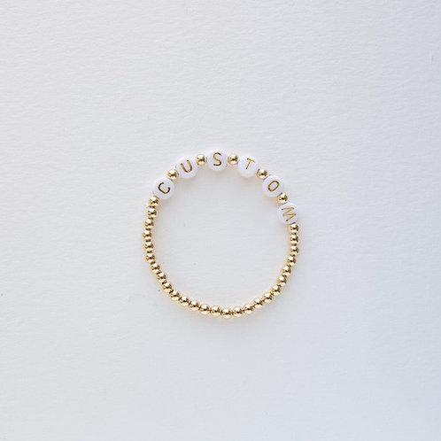 Custom Letter GoldFilled Bracelet