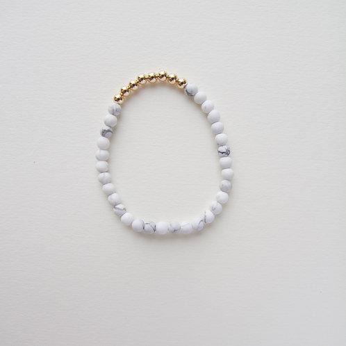 Hazel White Marble Bracelet