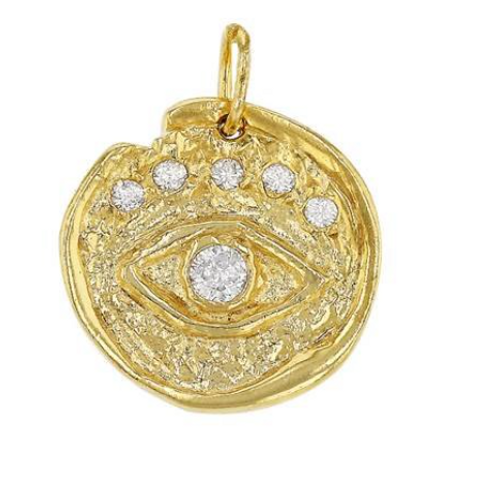 Gold Eye Charm Pendant