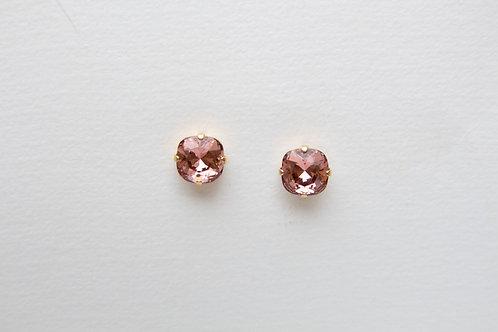 Lola Earrings in Dark Pink Crystal