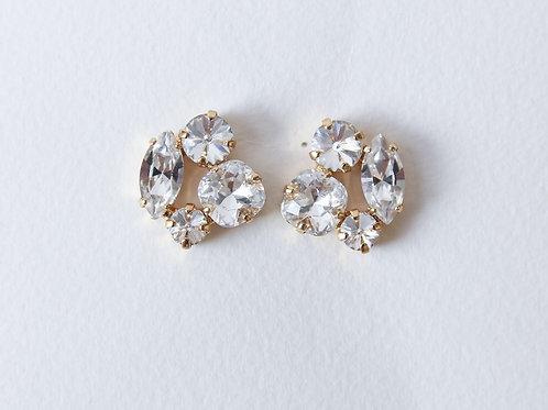 Large Cluster Earrings Crystal
