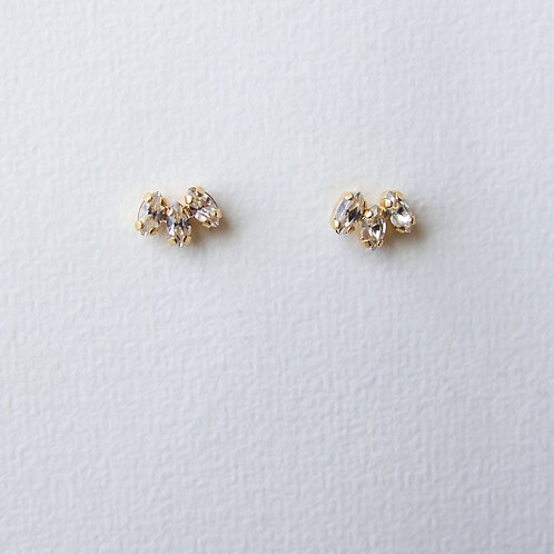 London Earrings Crystal