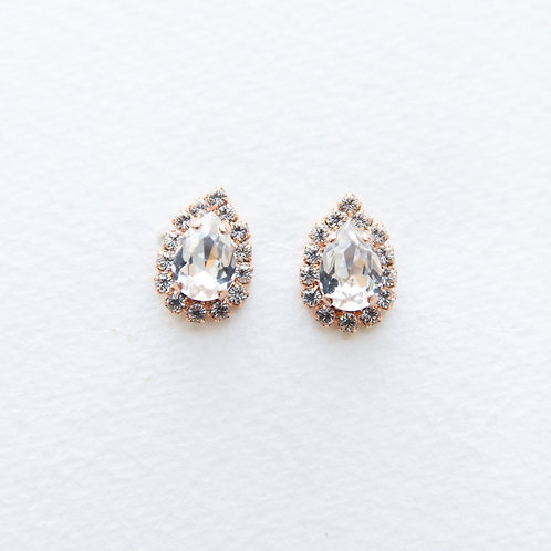 Nora Studs in Rose Gold