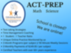ACT Prep math science one to one knoxville