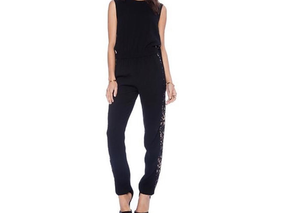 BCBG Victorya jumpsuit with lace side panels