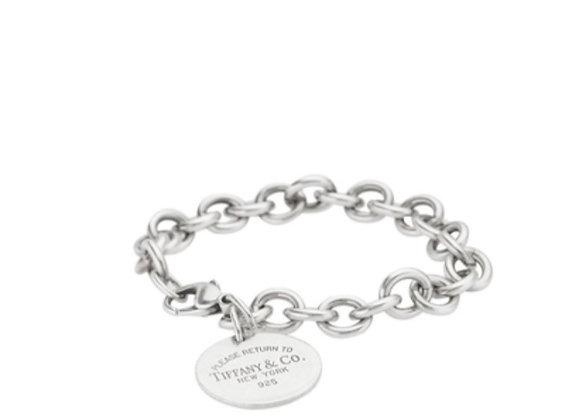 Tiffany & Co. Sterling Silver Return to Tiffany Round Tag Bracelet