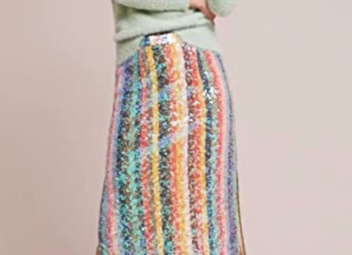 Sequined Palette Midi Skirt