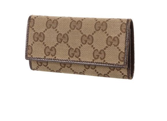 Gucci monogram canvas key holder