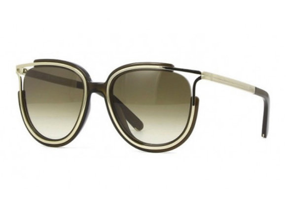 Chloe Khaki Cat eye sunglasses