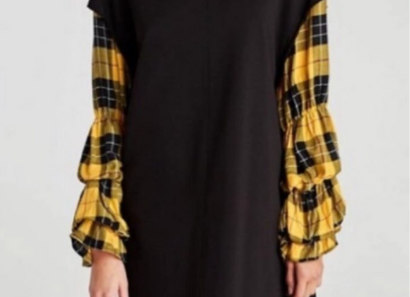 Black dress plaid sleeves