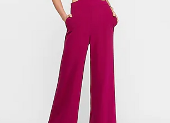 Pink Jumpsuit with waist cut out