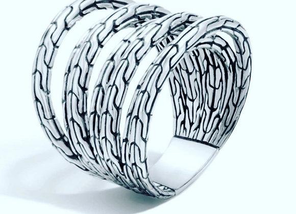 John Hardy Classic Chain Multiple Row Ring
