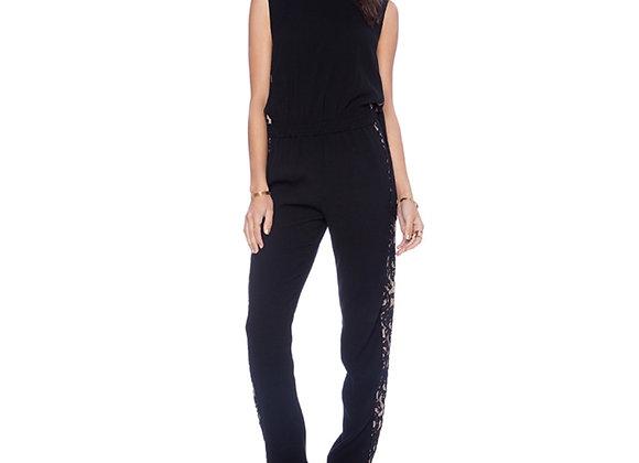 Black Tuxedo lace stripe jumper