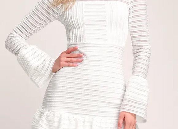 Lulu's white ruffle dress