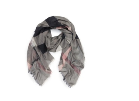 Burberry relaxed mega check scarf in dark trench