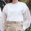 Thumbnail: Zara white floral sleeve top