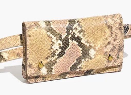 Snakeskin belt bag
