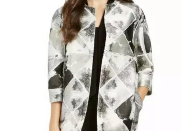Ann Klein Metallic silver blazer