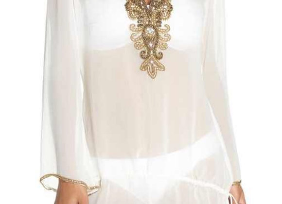 ASA white sheer Kaftan