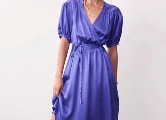 Maeve purple wrap dress