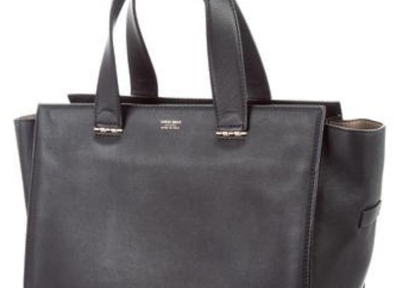 Giorgio Armani Leather Top Handle Shopper