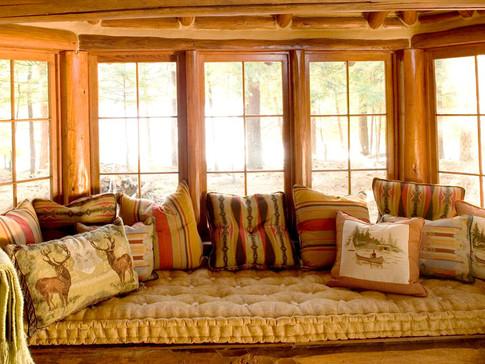 Window seat log home